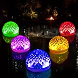 Solar Pool Lights, Floating Pool Lights with 3 Modes of LED Changing Colors, Efficiency Solar Panel, Hangable Waterproof Solar Lights Outdoor with Multi-scene Useable for Pool/Garden/Spa/Bathtub(1pcs)
