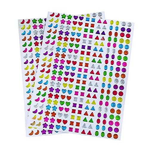 Lvcky 840paia orecchini sticker 3D Gems sticker Girls bastone su orecchini