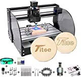 Upgrade Version 2-in-1 3000mW Engraver CNC 3018 Pro-M Machine,GRBL Control 3 Axis Mini Pcb Milling Wood Router Machine with Offline Controller+ ER11 and 5mm Extension Rod (Working Area 300x180x45mm)