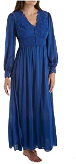 Shadowline womens Silhouette 54 Inch Long Sleeve Coat Bathrobe