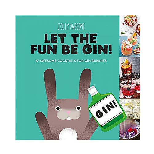 Echte Jolly Awesome lassen den Spaß sein Gin Geschenk Buch Gin Cocktail Rezepte Eis Haus Bücher
