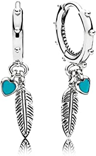 Pandora Spiritual Feathers Dangle Earrings 297205EN168
