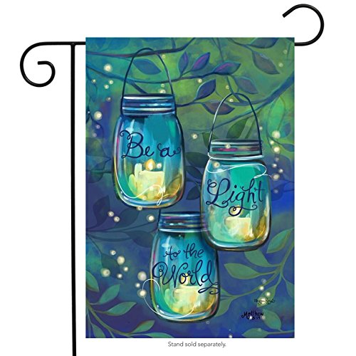 "Briarwood Lane Be A Light Spring Garden Flag Inspirational Candles 12.5"" x 18"""