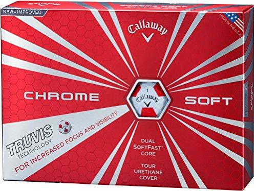『Callaway(キャロウェイ) ゴルフボール CHROME SOFT TRUVIS 1ダース(12個入り) 2016年モデル ホワイト』の1枚目の画像