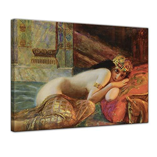 Leinwandbild Gaston Bussière Orientalische Schönheit - 70x50cm quer - Wandbild Alte Meister Kunstdruck Bild auf Leinwand Berühmte Gemälde