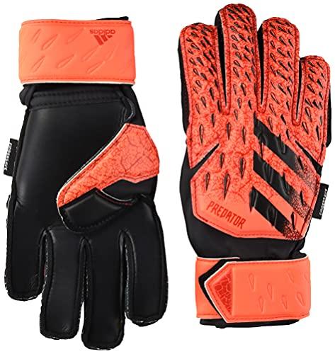 adidas Unisex-Child Match Fingersave Goalie Predator Gloves Solar Red/Red/Black, 6