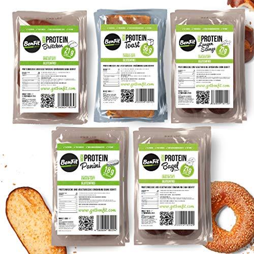 BenFit High Protein Kennenlern-Paket (2 Toast, 4 Brötchen, 4 Bagels, 4 Laugenstangen und 2 Paninis)