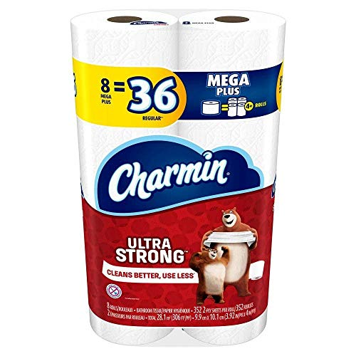Charmin Toilet Paper, Ultra Strong, 8 Mega Rolls