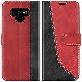 Mulbess Funda para Samsung Note 9, Funda con Tapa Samsung Galaxy Note 9, Funda Samsung Galaxy Note 9 Libro, Funda Cartera para Samsung Galaxy Note 9 Carcasa, Vino Rojo