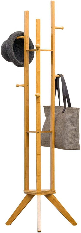JIAYING Coat Racks Coat Rack Simple Coat Rack Solid Wood Bedroom Hanger Floor Stand Rack Storage Rack Household Clothes Rack(167cm) Multifunction