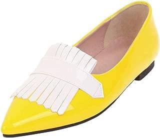 ELEEMEE Women Elegant Pointed Toe Pumps Slip On