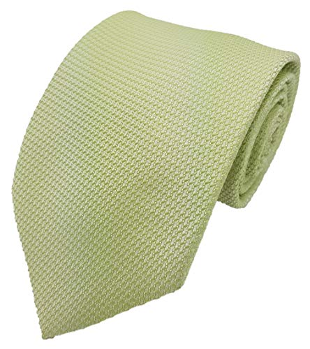 Silk Ties Krawatte Seide Gepunktet 8,5 cm, Krawatte Seide 8.5 cm gepunktet Kiste 10:Hellgrün