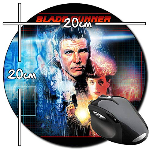 Blade Runner Deckard Harrison Ford A Rund Mauspad Round Mousepad PC
