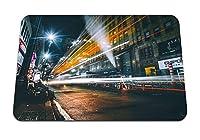 22cmx18cm マウスパッド (夜市道路信号ライトニューヨークアメリカ合衆国) パターンカスタムの マウスパッド