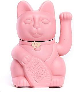 Gato de la Suerte chino. Lucky Cat. Maneki Neko. COLOR ROSA CHICLE 12x9x18cm