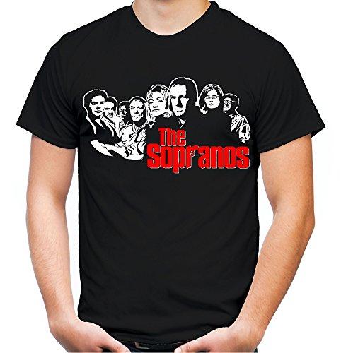 The Sopranos Männer und Herren T-Shirt | Spruch Bada Bing Kult Geschenk (XL, Schwarz)