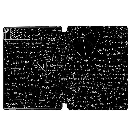 Funda para iPad Pro 12,9 pulgadas 2017 A1670/A1671, SDH Smart Cover Apple iPad Pro 12,9 pulgadas 2015 A1584/A1652 Funda de piel con función atril para iPad Pro de 12,9 pulgadas,Blackboard Book 6