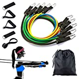 Resistenza Band set allenamento della forza attrezzature esercizio bande kit W/sacchetto d...