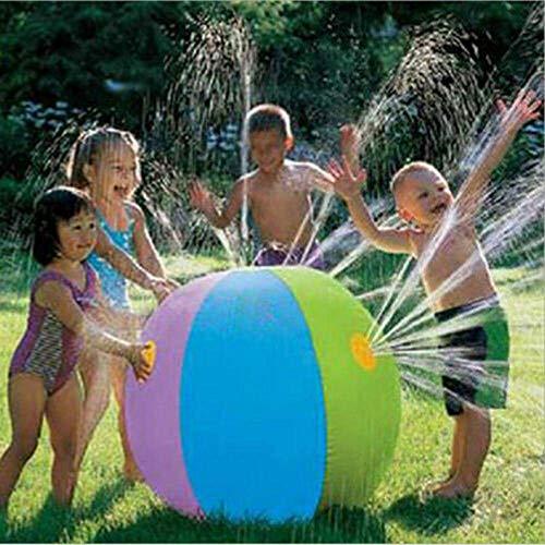 MJ-Brand Wasserball-Sprinkler GroßEr Aufblasbarer Sprinkler FüR Kinder Erwachsene Wasserspielzeug WassersprüHball-Spritz- Und SprüHspielzeug FüR Den AußEnbereich/Rasen 29,5 Zoll