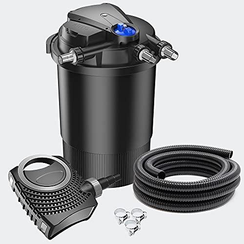 SunSun CPA-30000 Set 30000l 18W UVC NEO8000 Bomba Manguera Set de Filtro para Estanque