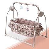 Bulawlly Schaukel Kinderstuhl Elektro Wiege Baby-Schaukelbett Automatische Rocking Krippe Korb Bassinet Neugeborene Rocker Baby Cot,C