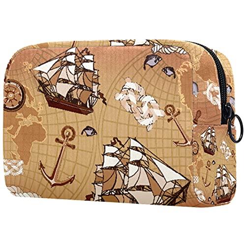KAMEARI Kosmetiktasche Old Map World Große Kosmetiktasche Organizer Multifunktionale Reisetaschen