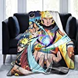 Binsro Naruto Flannel Throw Blanket Anime Print Super Soft Micro Fleece Blanket Bedding for Couch Bed Warm Throw Blanket for Kids Room Bedroom 50'X40'