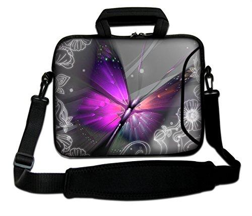 '10'-17.6pulgadas Bolso bandolera caja Funda calcetín para Apple MacBooks 11' 13'MacBook Air, 13' 15'17' MacBook Pro, MacBook Pro Retina, PowerBook G3G4, iBook, Aluminum Unibody, Core 2Duo etc. blanda con asa. Varios tamaños y diseños disponibles. (parte 1de 3) mariposa 10' (210 x 270 mm)