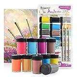 Colmanda Pintura Acrilica, 24 Tubos Acrílicos x 12mL, Set de Pintura Acrílica Con 1 Pincele, Ideal para Artistas, Principiantes o Niños