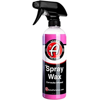 Adam's Spray Wax - Carnauba Infused Quick Detailer Spray Polish with The Most Advanced Formula on The Market for Ultimate Protection, High Gloss & A Streak Free Finish (16 oz)