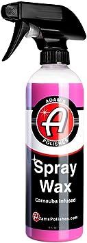 Adam's Spray Wax 16oz - Premium Infused Carnauba Car Wax Spray for Shine, Polish & Top Coat Paint Protection | Car Wash Enhancer & Clay Bar Lubricant | Car Boat Motorcycle RV Detailing: image