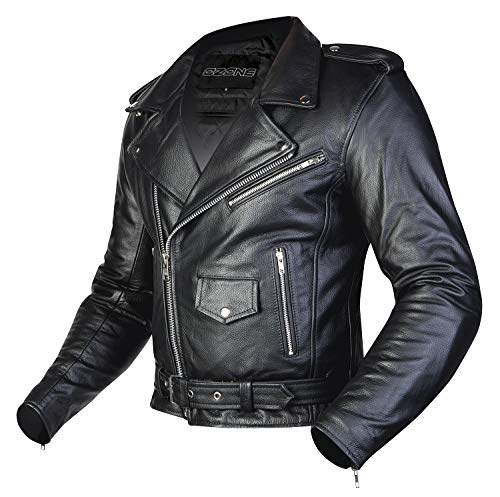 Ozone LEATHER JACKET RAMONES BLACK L
