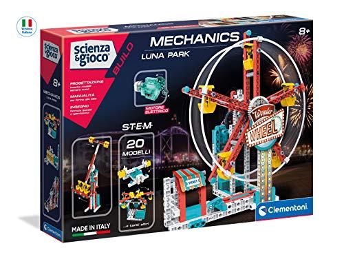 Clementoni- Science & Play Build-Luna Park-Made in Italy-Set Costruzioni-Meccanica-Gioco scientifico (Versione in Italiano), 8 Anni+, 19192