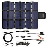 TP-solar 120W Foldable Solar Panel Charger Kit for Portable Generator Power Station Smartphones Laptop Car Boat RV Trailer 12v Battery Charging (Dual 5V USB & 19V DC Output)