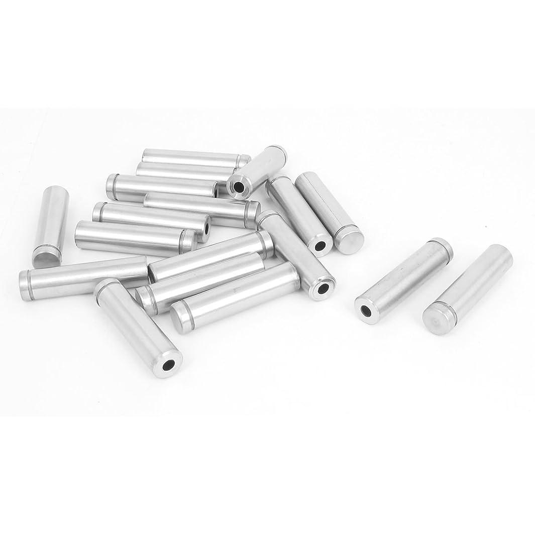 uxcell 12mm x 50mm Stainless Steel Advertising Frameless Glass Standoff Pins 18pcs