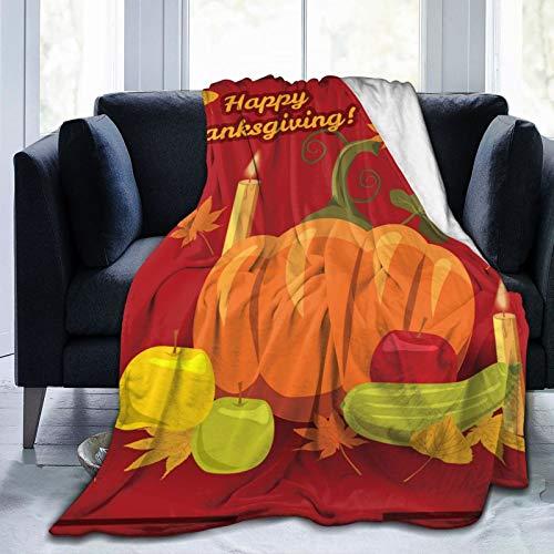 Happy Thanksgiving Gala Dinner Pumpkin - Manta de franela suave para mantener el calor
