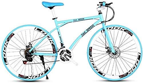Las bicicletas de carretera de los hombres y de las mujeres, de 24 bicicletas de velocidad de 26 pulgadas, sólo for adultos, marco de acero al carbono de alta, camino de la bicicleta de carreras, rued