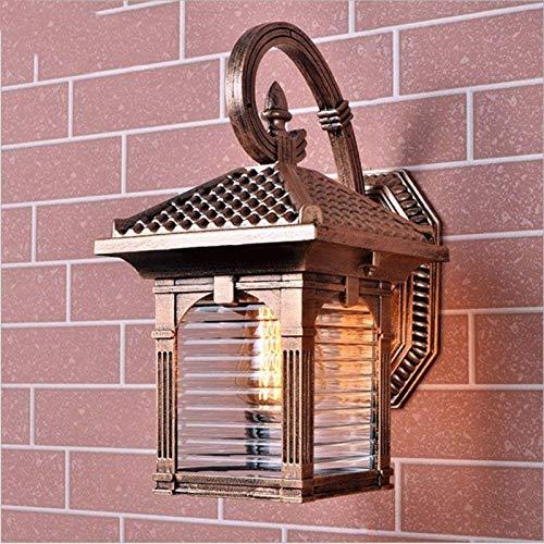 Exterior Lámpara Aplique de Pared para Patio Luz de pared exterior, al aire libre luces de pared for Casa, 1-ligero de la pared exterior del aplique de claro sembrado de cristal (Tamaño: Altura 35 Anc