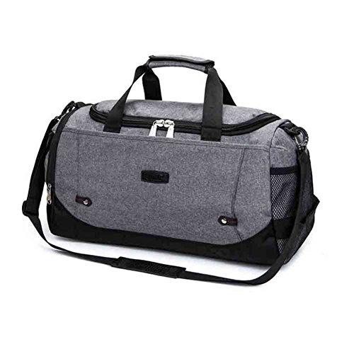 Reistassen HY Canvas Rugzak Duffel Bag Schouder Messenger Bag Sport En Fitness Boarding Grote Capaciteit Korte reizen Unisex, 5 Kleuren Grijs