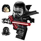 LEGO Star Wars Minifigure - Kylo Ren Complete with Helmet, Hood, Hair, Flesh/Black Face with Cross Lightsaber by LEGO
