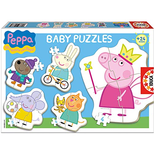 Educaborras Puzzle Baby Peppa de 3,4 y 5 Piezas Puzzle Infantil Fabricado en España