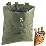 Gexgune Molle System Tactical Molle Dump Revista Bolsa Caza Recuperación Bolsa Caída Bolsa Accesorios Militares (Verde)
