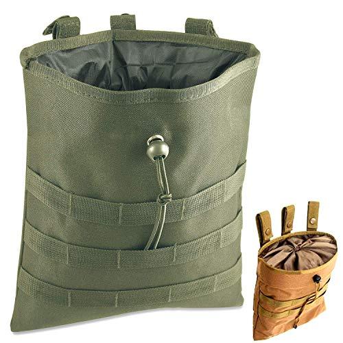 Gexgune Molle System Tactique Molle Dump Magazine Pouch Chasse Récupération Sac Pochette Accessoires Militaire (Vert)