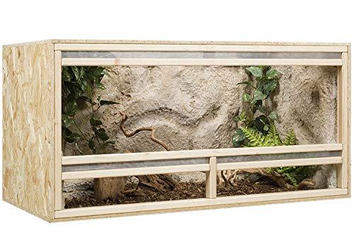 Generisch Terrarium, Terrariumbausatz, OSB Terrarium, Holzterrarium 120 x 60 x 60 cm Frontbelüftung