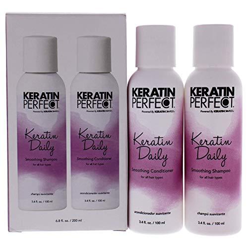 Keratin Perfect - Keratin Daily Duo - Champú y acondicionador de alisado - Para todo tipo de cabello