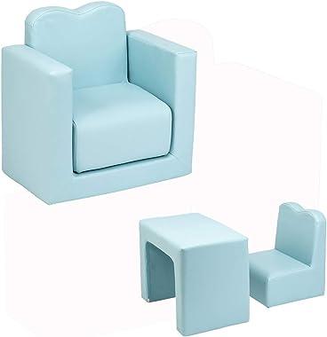 Children Sofa Multi-Functional Sofa Table and Chair Set, Delta Children Upholstered Chair, Living Room Bedroom Furniture for