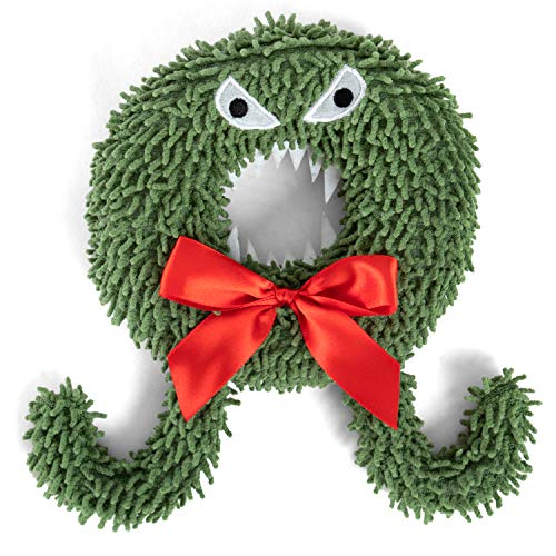 Disney Nightmare Before Christmas Scary Wreath Plush Chew Toy with Built in Squeakers, Green (DIS-Toy-NBC-WRT)