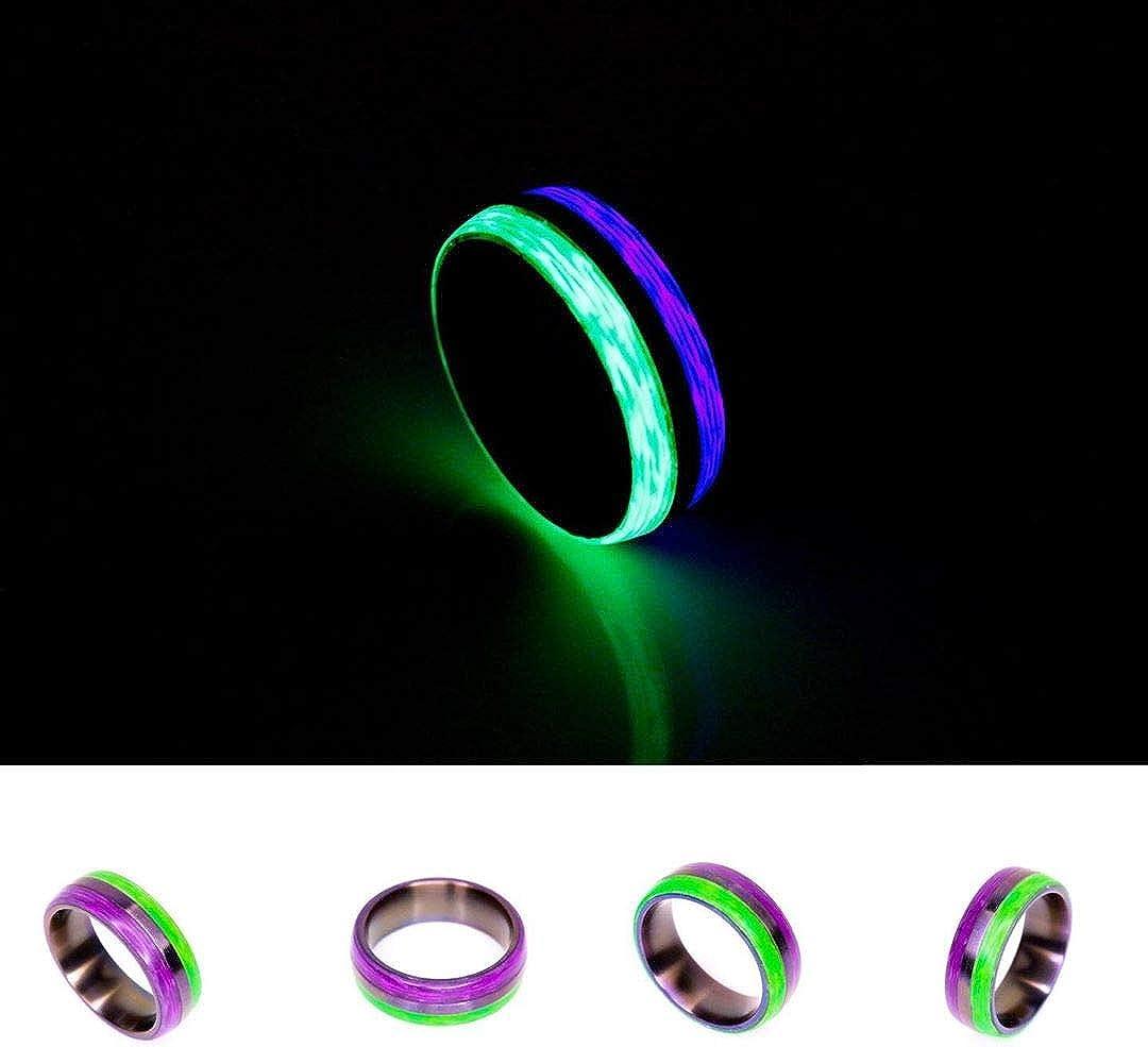 Rune Refinery: As Seen on Kickstarter Glow in The Dark Carbon Fiber Ring for Men & Women, Perfect Wedding Bands, Birthday Gifts & Engagement Band, The Joker