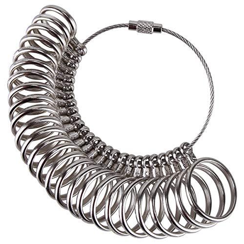 Meowoo Metallring Ringgrössenmesser Metall Ringmaß Ringmesser, Größenstandard UK