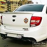 RSZHHL Sticker de Carro TRL128# 13x17.7cmCSKA Moscú Etiqueta engomada del Coche PVC Divertido AutoEstilo sEtiqueta extraíble